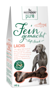 Meradog Pure Fein Gemacht Soft Snacks - Grain-Free Salmon