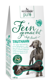 Meradog Pure Fein Gemacht Soft Snacks - Grain-Free Turkey