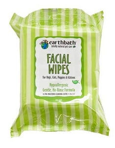 Earthbath Facial Wipes For Pets 25ct