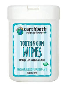 EarthBath Tooth & Gum Dental Wipes 25ct