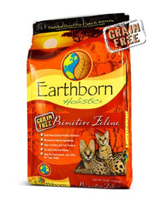 Earthborn Holistic Natural Grain Free Primitive Feline Cat & Kitten Dry Food (3 Sizes)