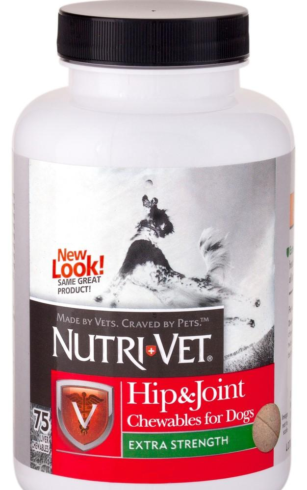 Nutri-Vet Hip & Joint Extra Strength Chewable Tablets for Dogs (75ct)