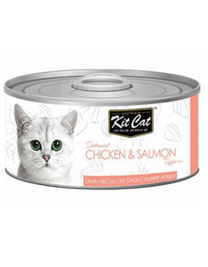 Kit Cat Deboned Chicken & Salmon Wet Food 80g