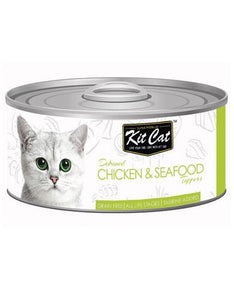 Kit Cat Deboned Chicken & Seafood Wet Food 80g