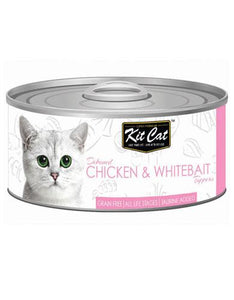 Kit Cat Deboned Chicken & Whitebait Wet Food 80g