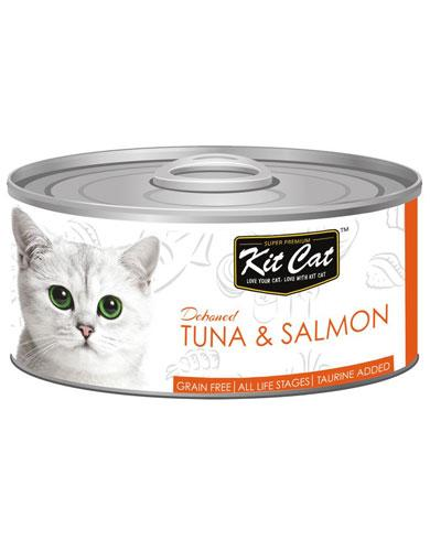 Kit Cat Deboned Tuna & Salmon Wet Food 80g | Waggymeal Online Pet Store Malaysia
