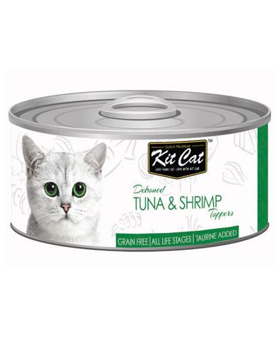 Kit Cat Deboned Tuna & Shrimp Wet Food 80g | Waggymeal Online Pet Store Malaysia