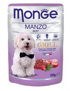 Monge Grill Beef Dog Wet Food (4 Sizes)