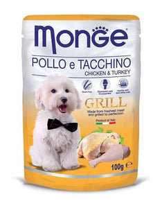 Monge Grill Chicken & Turkey Dog Wet Food (4 Sizes)