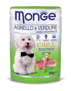 Monge Grill Lamb & Vegetable Dog Wet Food (4 Sizes)