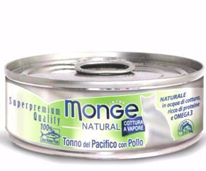 Monge Natural Yellowfin Tuna With Chicken Cat Wet Food