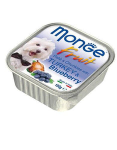 Monge Fruits Turkey & Blueberry Dog Wet Food (4 Sizes)