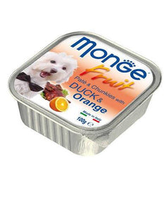 Monge Fruits Duck & Orange Dog Wet Food
