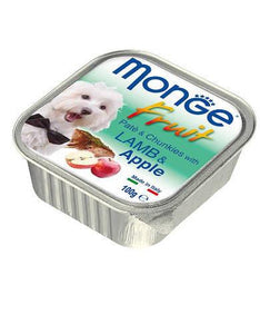 Monge Fruits Lamb & Apple Dog Wet Food