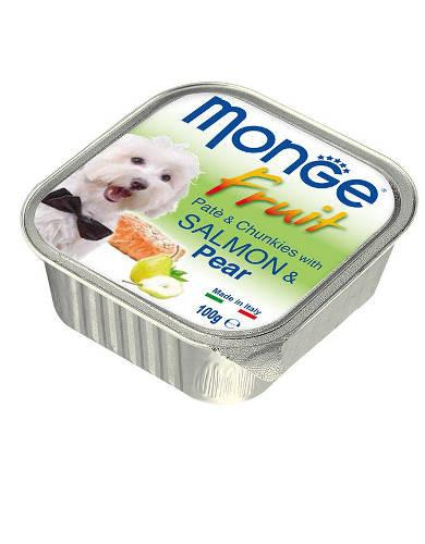Monge Fruits Salmon & Pear Dog Wet Food | Waggymeal Online Pet Store MY