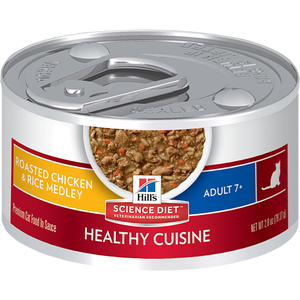 Hill's Science Diet Adult 7+ Healthy Cuisine Roasted Chicken & Rice Medley Cat Canned Food (82g)