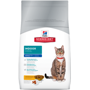 Hill's Science Diet Adult 7+ Indoor Cat Food - Chicken (3.5lbs / 1.59kg)
