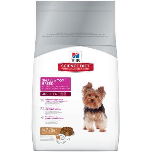 Hill's Science Diet Adult Small & Toy Breed Lamb Meal & Rice Recipe Dry Dog Food - 4.5lbs / 2 kg