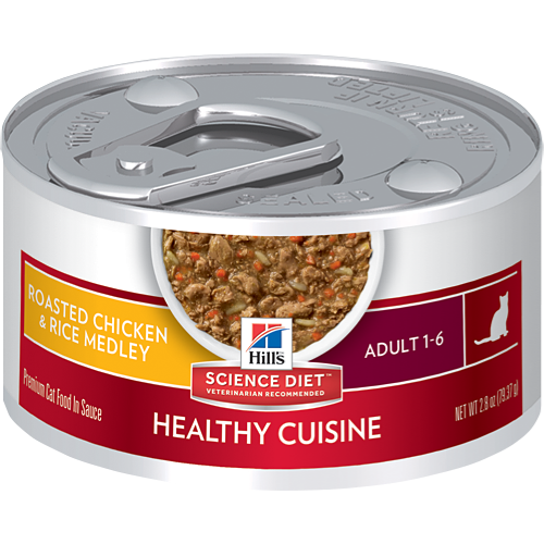 Hill's Science Diet Adult Healthy Cuisine Roasted Chicken & Rice Medley Cat Canned Food (82g)