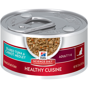 Hill's Science Diet Adult Healthy Cuisine Seared Tuna & Carrot Medley Cat Canned Food (82g)