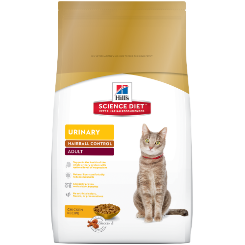 Hill's Science Diet Adult Urinary Hairball Control - 3.5lbs/1.59kg