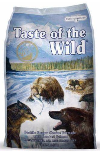 Taste Of The Wild Pacific Stream Canine Formula with Smoked Salmon Dry Dog Food ( 3 Sizes )