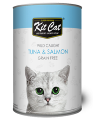 Kit Cat Super Premium Wild Caught Tuna & Salmon Grain Free 400g