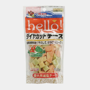 Doggyman Hello! Diamond Cut Cheese Vegetables Mix 100g