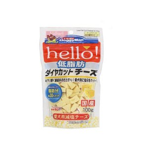 Doggyman Hello! Low-Fat Diamond Cut Cheese 100g