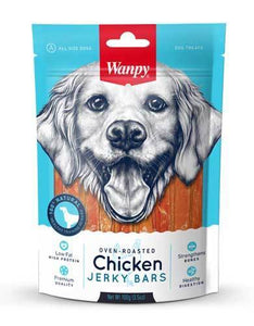 Wanpy Oven-Roasted Chicken Bars Dog Treats 100g
