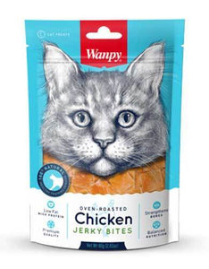 Wanpy Oven-Roasted Chicken Bites Cat Treats 80g