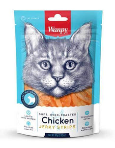 Wanpy Soft & Oven-Roasted Chicken Strips Cat Treats 80g