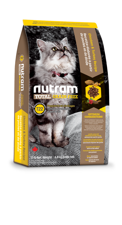 T22 Nutram Total Grain-Free® Chicken and Turkey Recipe Cat Food