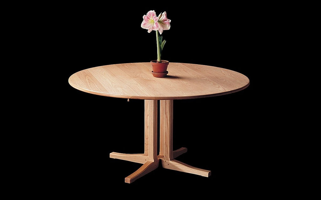 PEDESTAL DROP LEAF DINING TABLE