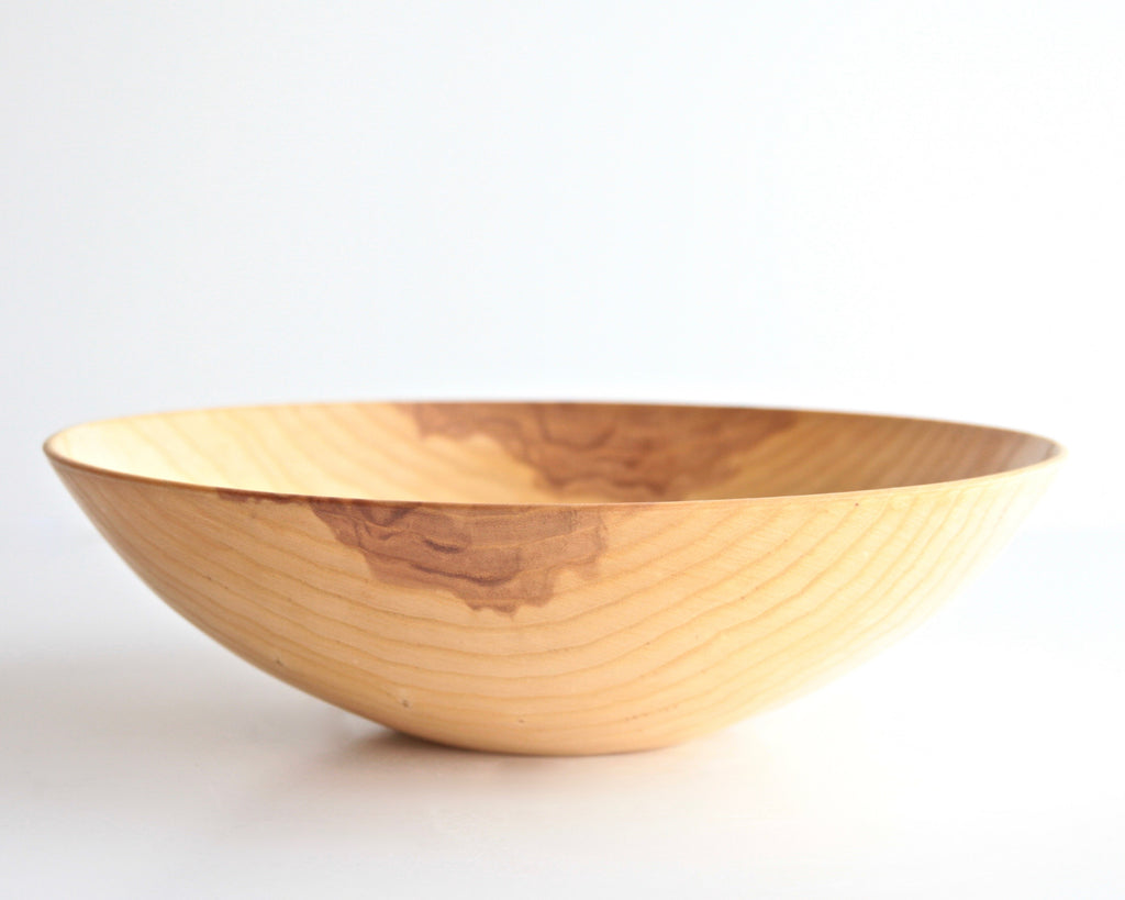"White Ash Turned Bowl 12-1/4"" d x 3-1/2"" h"