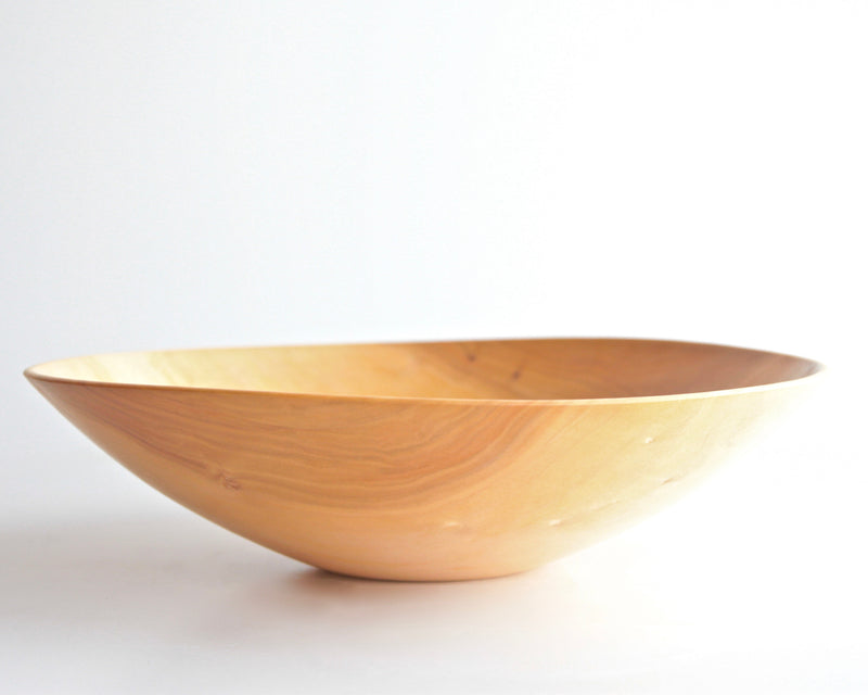 "Silver Maple Turned Bowl 14-3/4"" d x 4"" h - ShackletonThomas"