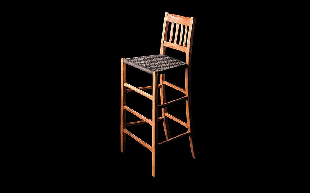 COTTAGE BARSTOOL WITH BACK