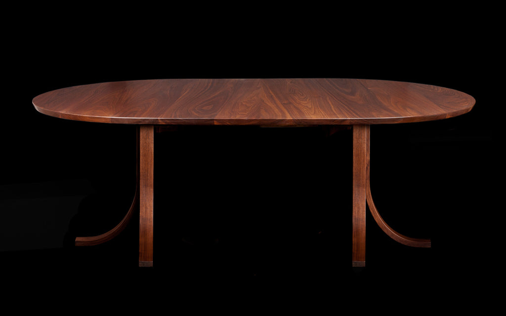Small Round Eagle Extending Dining Table in Walnut
