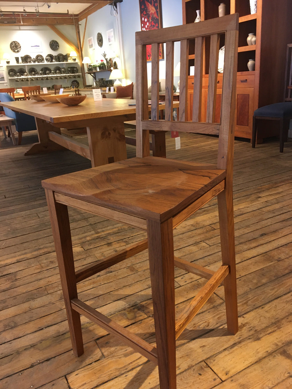 HIGH BACKED ROBERTS BARSTOOL