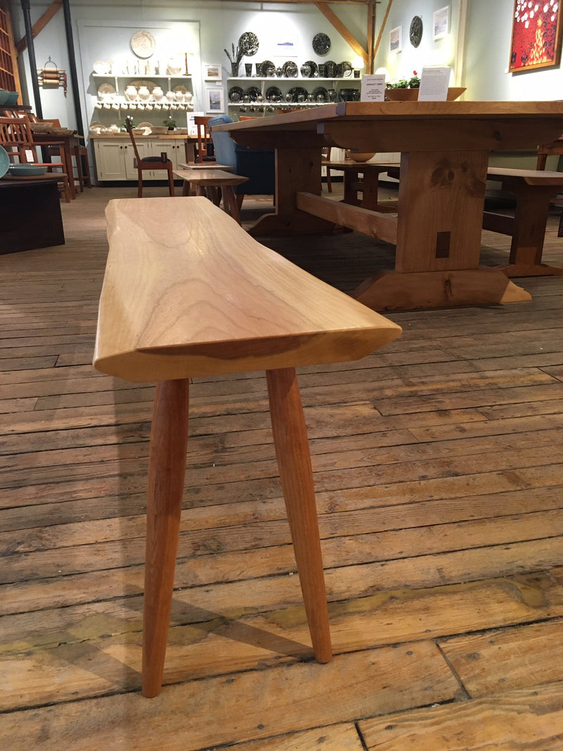 LIVE-EDGE BENCH WITH TURNED LEGS - ShackletonThomas