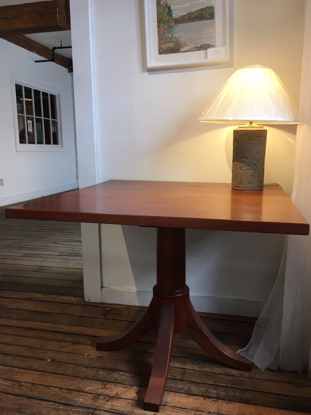 CUSTOM SQUARE JOSH'S PEDESTAL TABLE