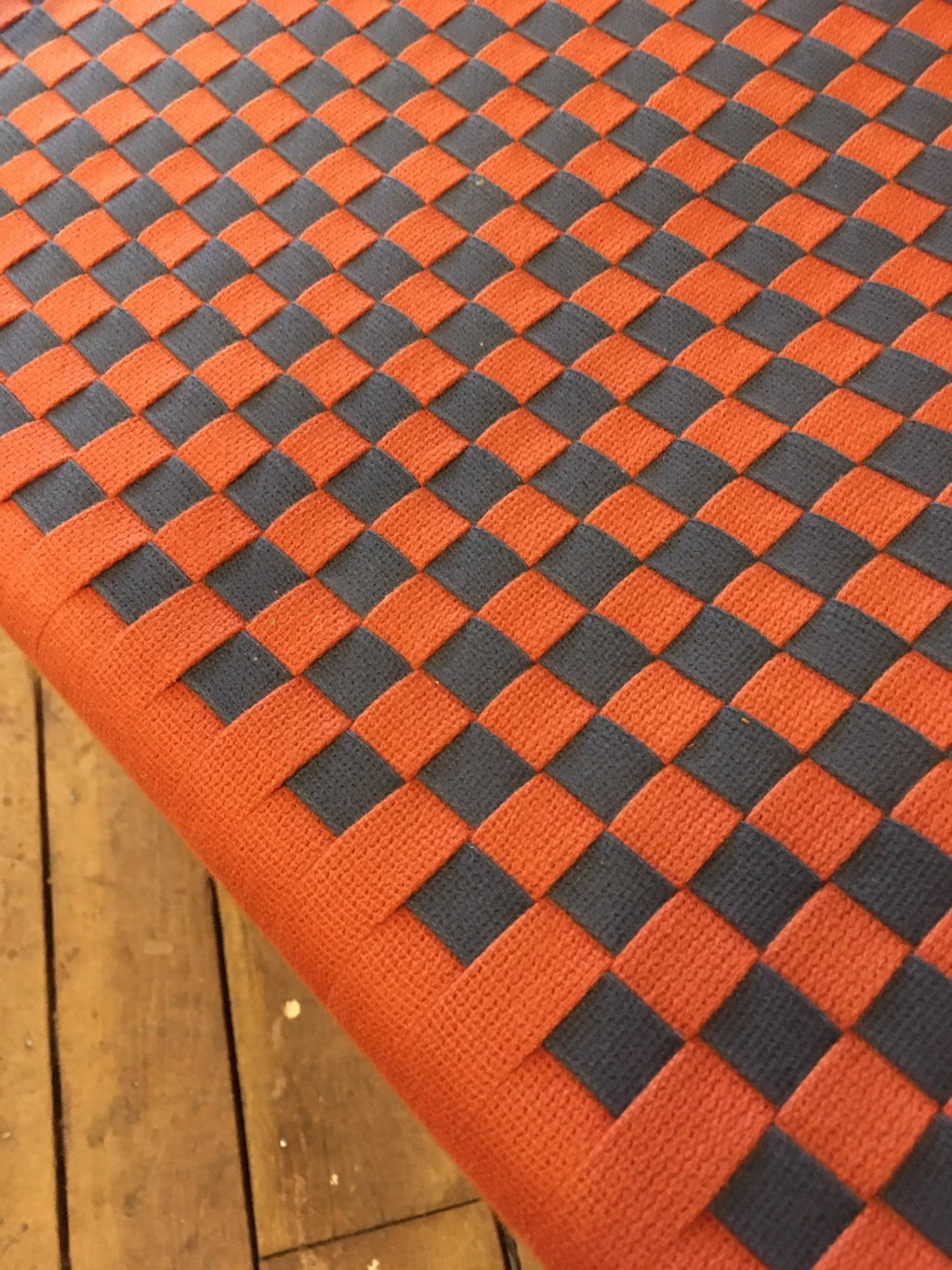 COTTAGE ARM CHAIR WITH CHECKERBOARD SEAT