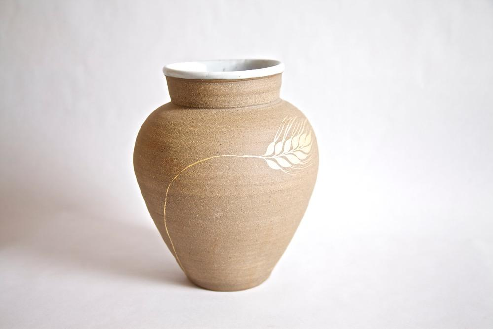 Vase with 24K Gold, Hand Painted