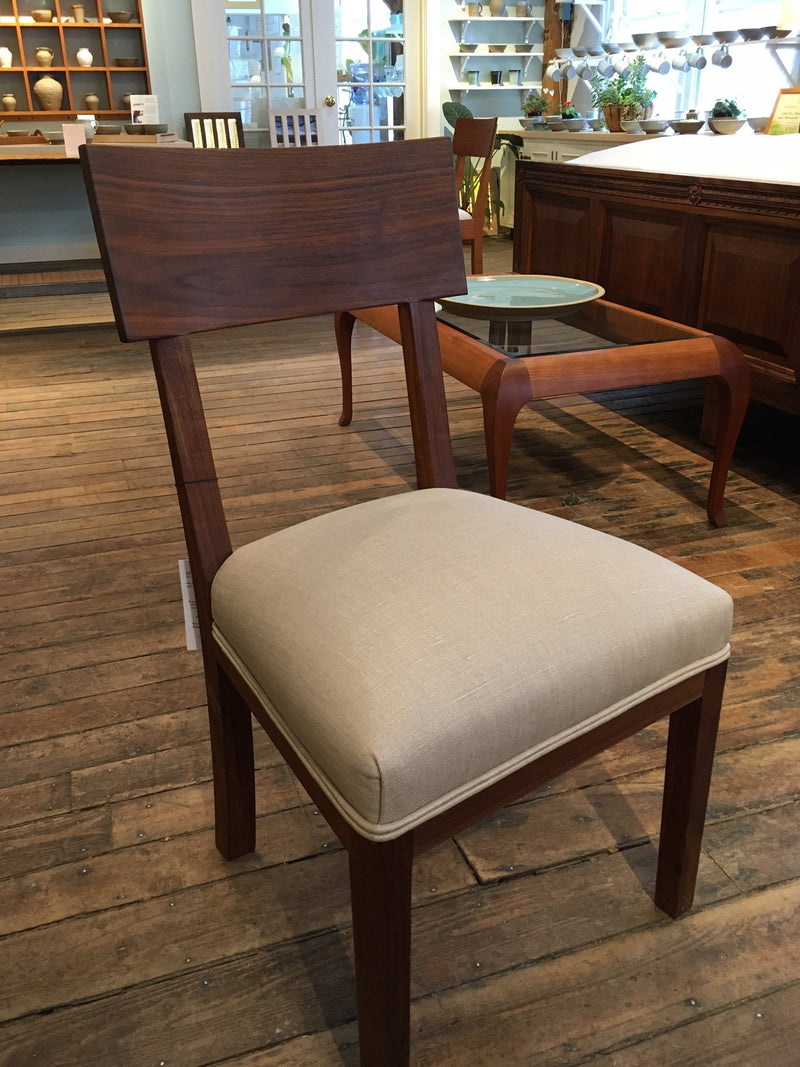 RICARDO SIDE CHAIR IN WALNUT WITH CHRISTOPHER FARR MAMA - ShackletonThomas
