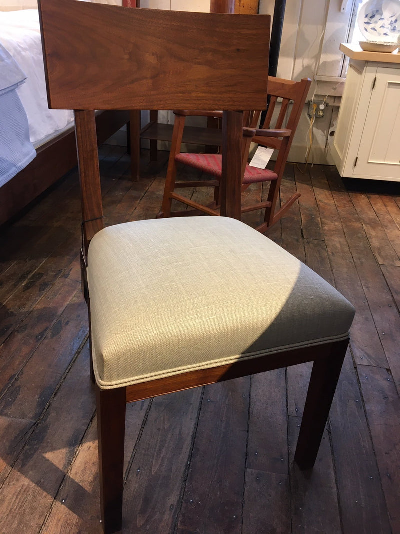 RICARDO SIDE CHAIR IN WALNUT WITH CHRISTOPHER FARR MAMA