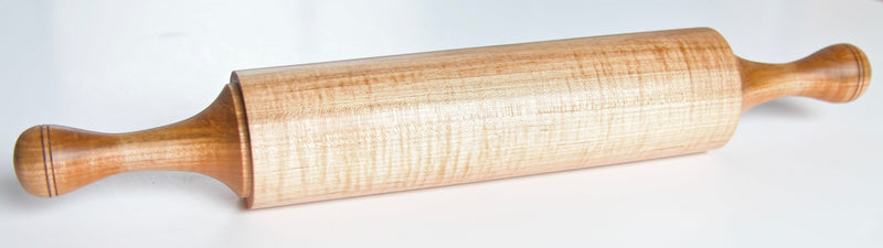 TURNED WOODEN ROLLING PINS IN MAPLE