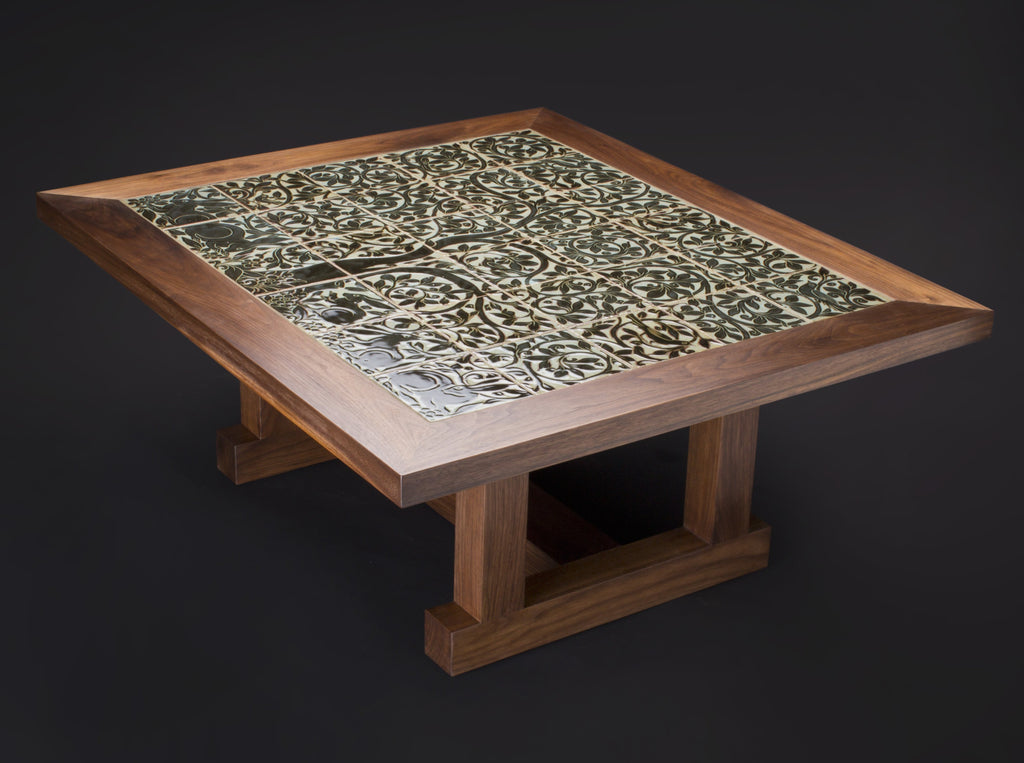 MARCO'S COFFEE TABLE WITH TILE TOP - ShackletonThomas
