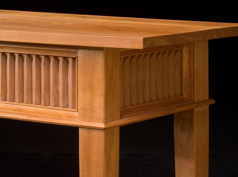 FLUTED BOWFRONT SIDEBOARD