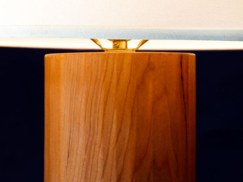 ROUND HAND PLANED TABLE LAMP - ShackletonThomas