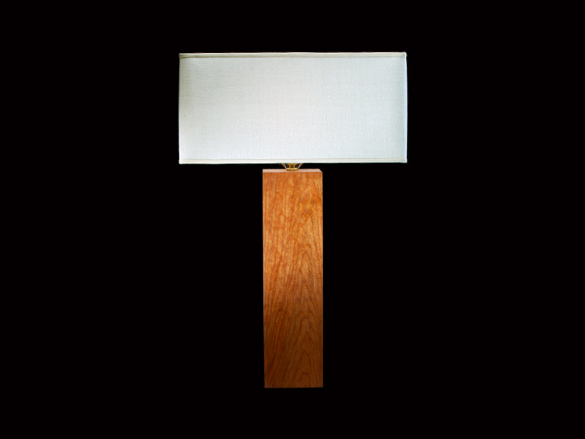 SQUARE HAND PLANED TABLE LAMP